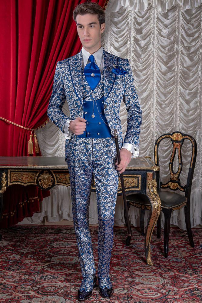bf38530e64c70 Levita redingote barroca azul modelo 2568 Ottavio Nuccio Gala